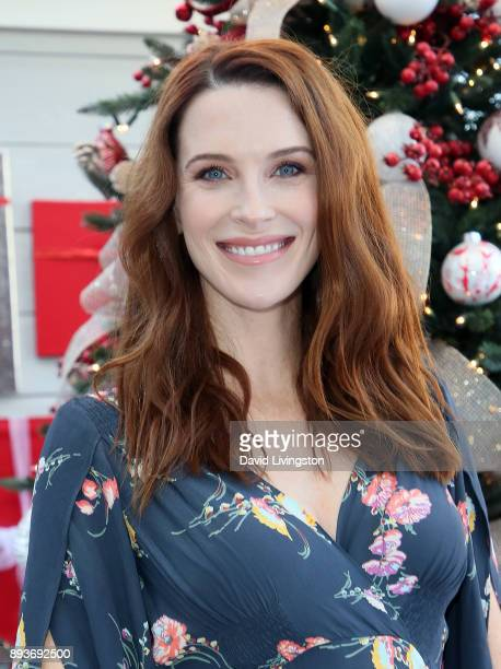 Actress Bridget Regan visits Hallmark's Home Family at Universal Studios Hollywood on December 15 2017 in Universal City California