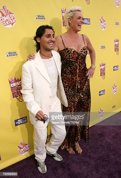 Actress Bridgett Neilson and husband Mattia Dessi arrive to The Comedy Central Roast of Flavor Flav at Warner Bros Studios on July 22 2007 in Burbank...