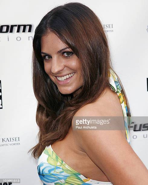 Actress Bridgetta Tomarchio arrives at the 1st annual My Ocean Planet fundraiser benefitting project Kaisei at The Malibu Lumber Yard on June 5 2010...