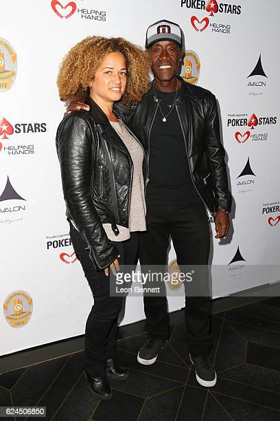 Actress Bridgid Coulter and actor Don Cheadle arrive at the Los Angeles Police Memorial Foundation Celebrity Poker Tournament Party Arrivals at...