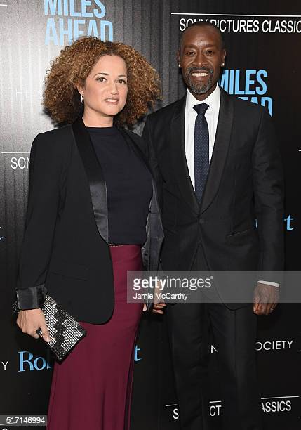 Actress Bridgid Coulter and actor Don Cheadle arrive at the screening of Sony Pictures Classics' Miles Ahead hosted by The Cinema Society with Ketel...
