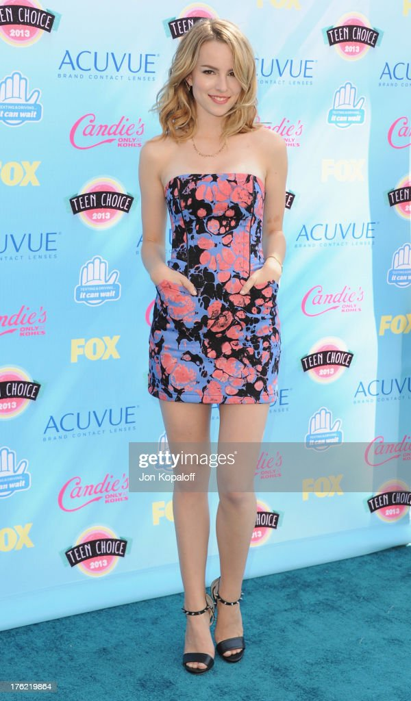 Actress Bridgit Mendler arrives at the 2013 Teen Choice Awards at Gibson Amphitheatre on August 11, 2013 in Universal City, California.