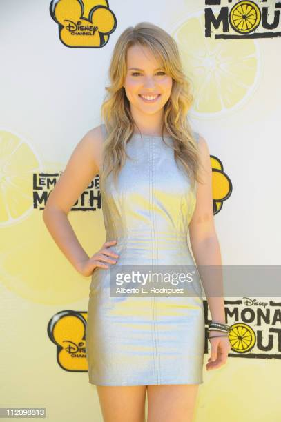 """Actress Bridgit Mendler arrives to the premiere of Disney Channel's """"Lemonade Mouth"""" at Stevenson Middle School on April 12, 2011 in Los Angeles,..."""