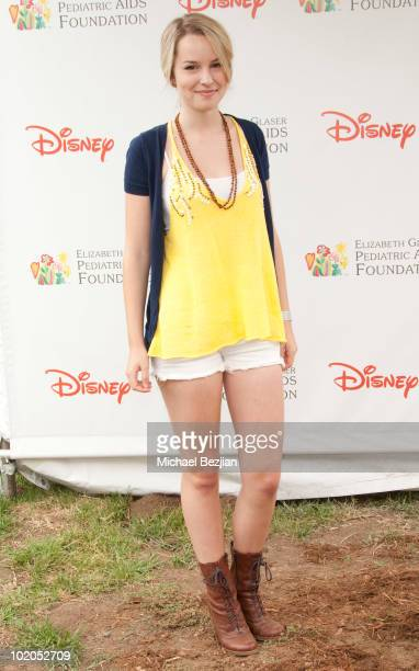 Actress Bridgit Mendler poses at the 21st Annual 'A Time For Heroes' Celebrity Picnic Benefit Arrivals at Wadsworth Theater on June 13 2010 in Los...