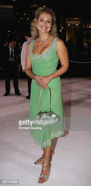 Actress Bridie Carter arrives at the 47th Annual TV Week Logie Awards at the Crown Entertainment Complex May 1 2005 in Melbourne Australia