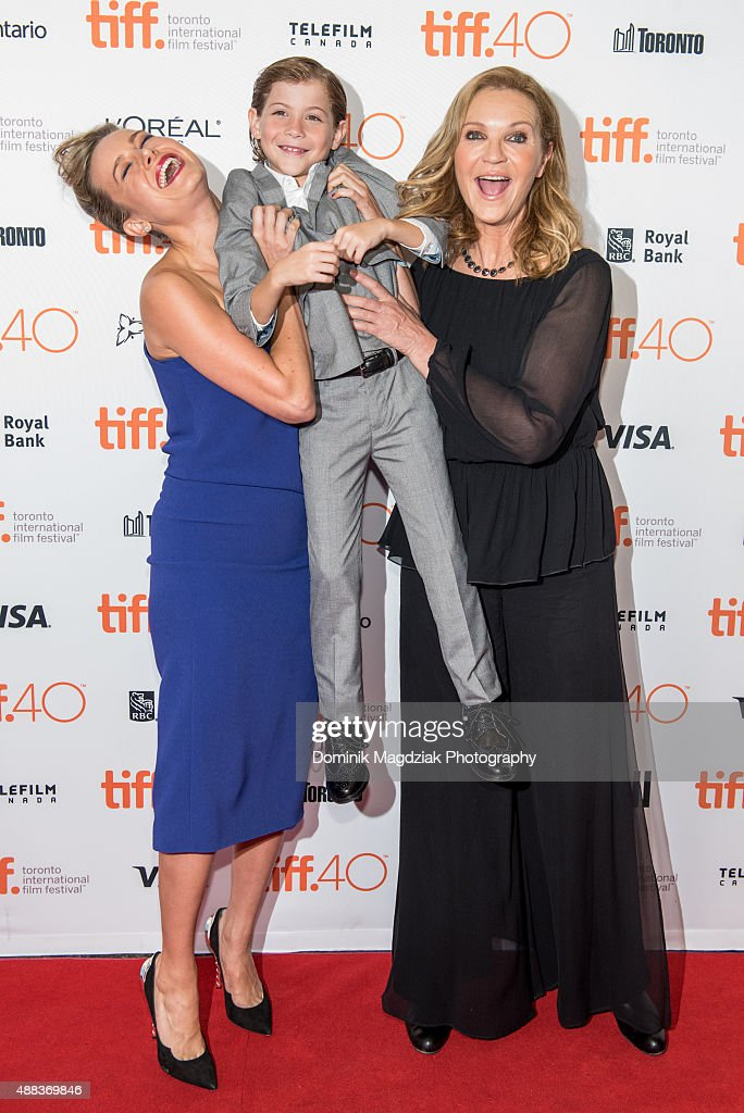 Actress Brie Larson, actor Jacob Tremblay and actress Joan Allen attend the 'Room' premiere during the 2015 Toronto International Film Festival at the Princess of Wales Theatre on September 15, 2015 in Toronto, Canada.