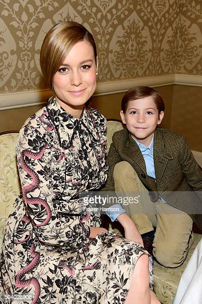 Actress Brie Larson and actor Jacob Tremblay attend the 16th Annual AFI Awards at Four Seasons Hotel Los Angeles at Beverly Hills on January 8 2016...