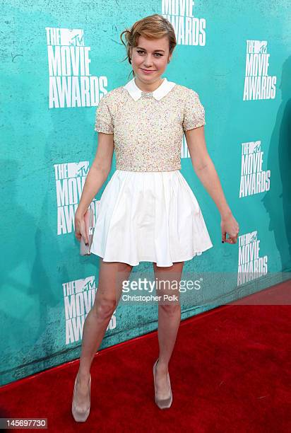 Actress Brie Larson arrives at the 2012 MTV Movie Awards held at Gibson Amphitheatre on June 3, 2012 in Universal City, California.