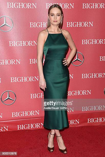 Actress Brie Larson arrives at the 27th Annual Palm Springs International Film Festival Awards Gala at Palm Springs Convention Center on January 2...