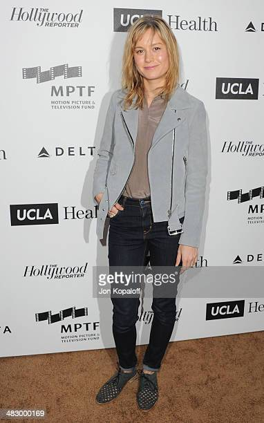 Actress Brie Larson arrives at the MPTF Reel Stories, Real Lives Event at Milk Studios on April 5, 2014 in Los Angeles, California.