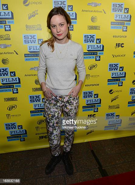 Actress Brie Larson arrives to the screening of Don Jon's Addiction during the 2013 SXSW Music Film Interactive Festival at the Paramount Theatre on...