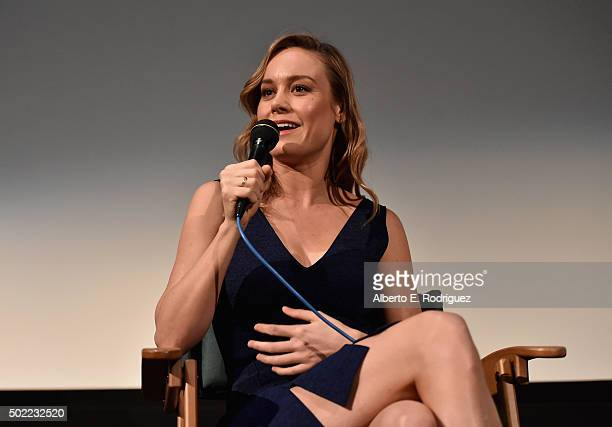 Actress Brie Larson attends a special screening of her film 'Room' at Aero Theatre on December 21 2015 in Santa Monica California