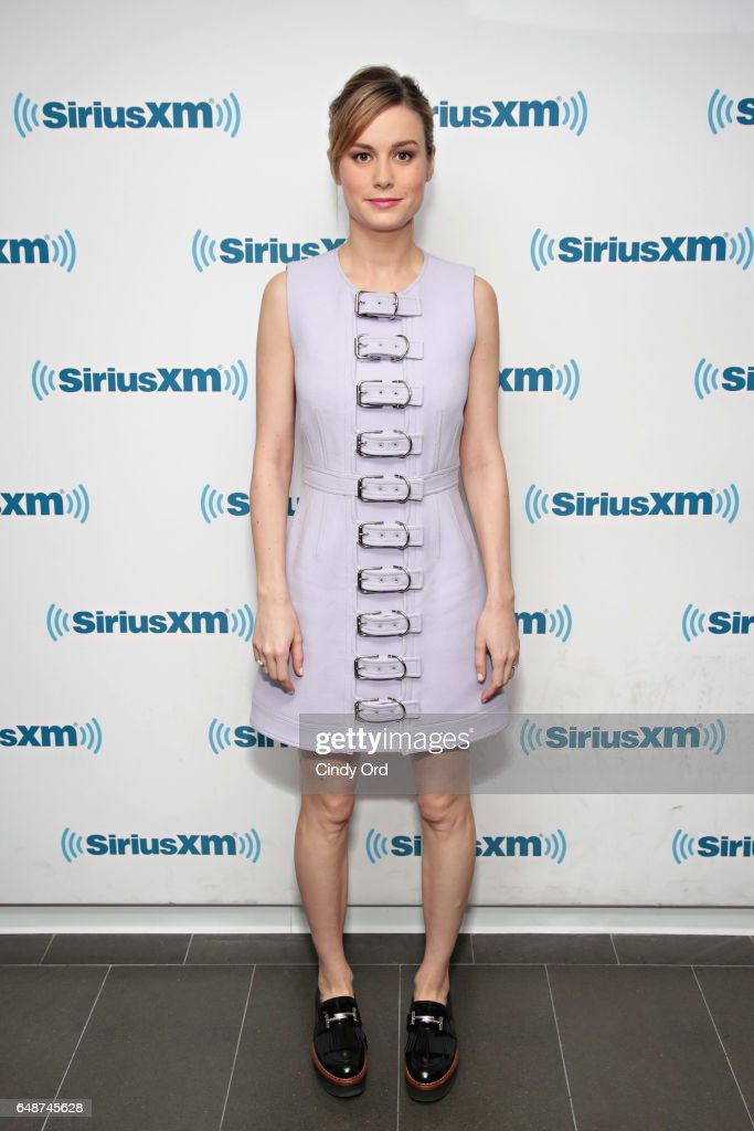 Actress Brie Larson attends SiriusXM's 'Town Hall' with the cast of 'Kong: Skull Island'; town hall to air on SiriusXM's Entertainment Weekly Radio on March 6, 2017 in New York City.