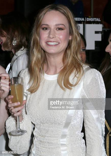 Actress Brie Larson attends the 10th Annual Women in Film PreOscar Cocktail Party presented by Max Mara and BMW at the Nightingale Plaza on February...