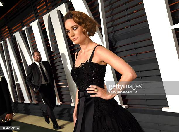 Actress Brie Larson attends the 2015 Vanity Fair Oscar Party hosted by Graydon Carter at the Wallis Annenberg Center for the Performing Arts on...