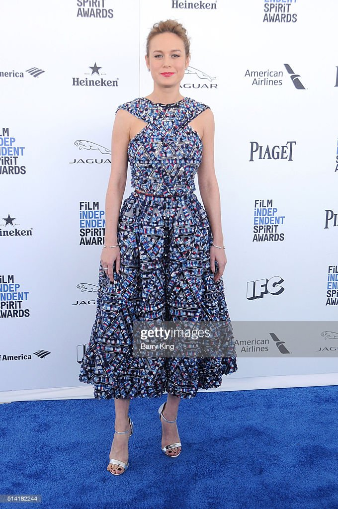 Actress Brie Larson attends the 2016 Film Independent Spirit Awards on February 27, 2016 in Santa Monica, California.