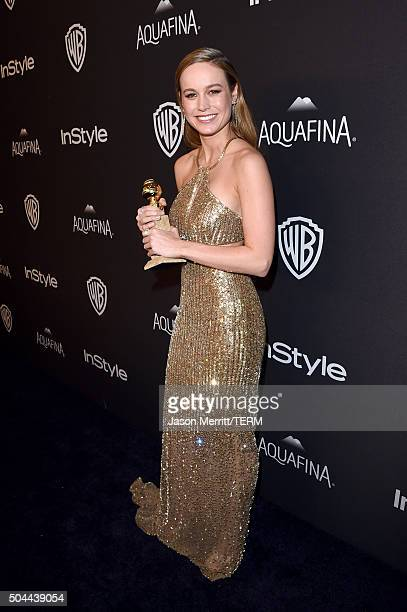 Actress Brie Larson attends The 2016 InStyle And Warner Bros. 73rd Annual Golden Globe Awards Post-Party at The Beverly Hilton Hotel on January 10,...