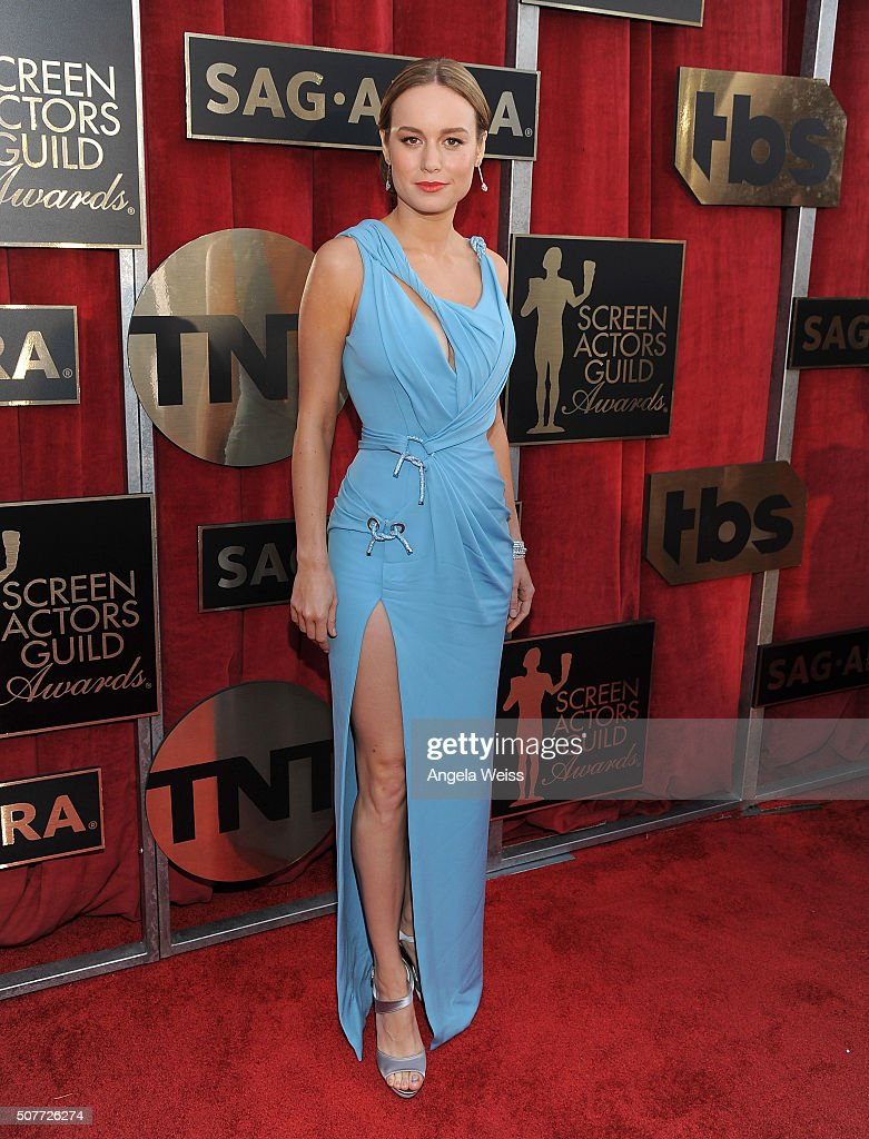 Actress Brie Larson attends the 22nd Annual Screen Actors Guild Awards at The Shrine Auditorium on January 30, 2016 in Los Angeles, California.