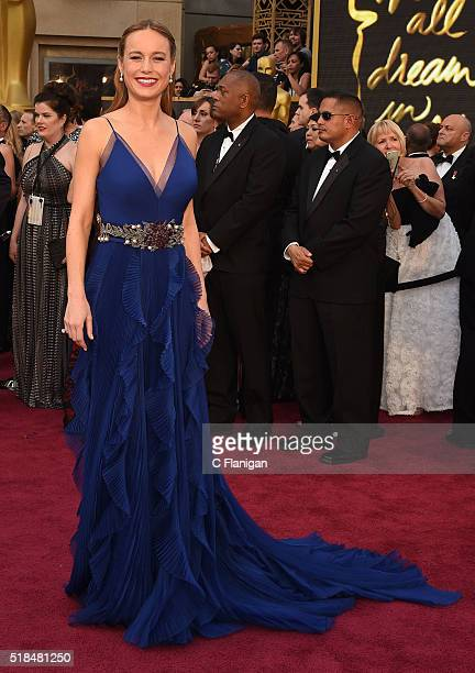 Actress Brie Larson attends the 88th Annual Academy Awards at Hollywood & Highland Center on February 28, 2016 in Hollywood, California.
