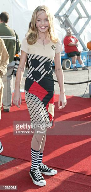 Actress Brie Larson attends the 9th Annual Dream Halloween Los Angeles benefit on October 26 2002 in Santa Monica California The fund raising event...