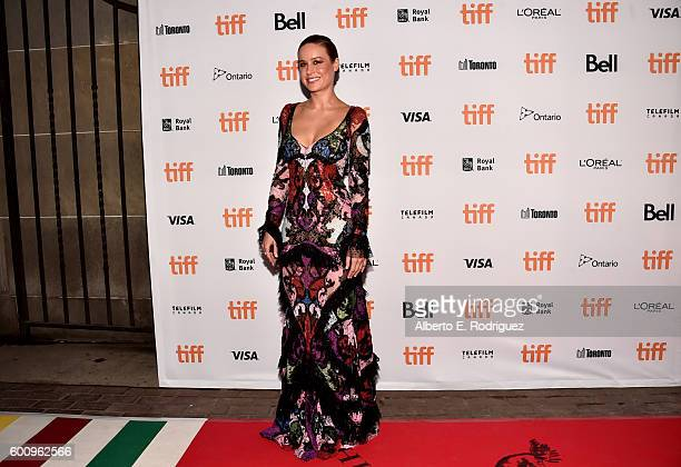 Actress Brie Larson attends the Free Fire premiere during the 2016 Toronto International Film Festival at Ryerson Theatre on September 8 2016 in...