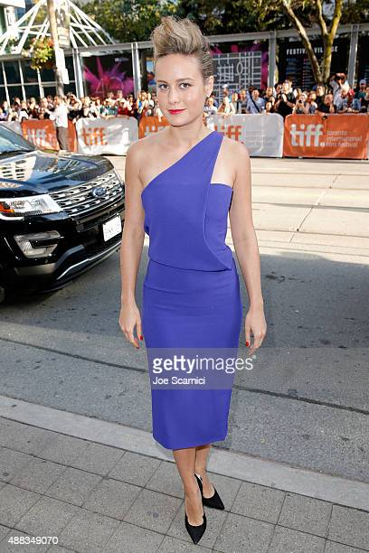Actress Brie Larson attends the 'Room' premiere during the 2015 Toronto International Film Festival at the Princess of Wales Theatre on September 15...