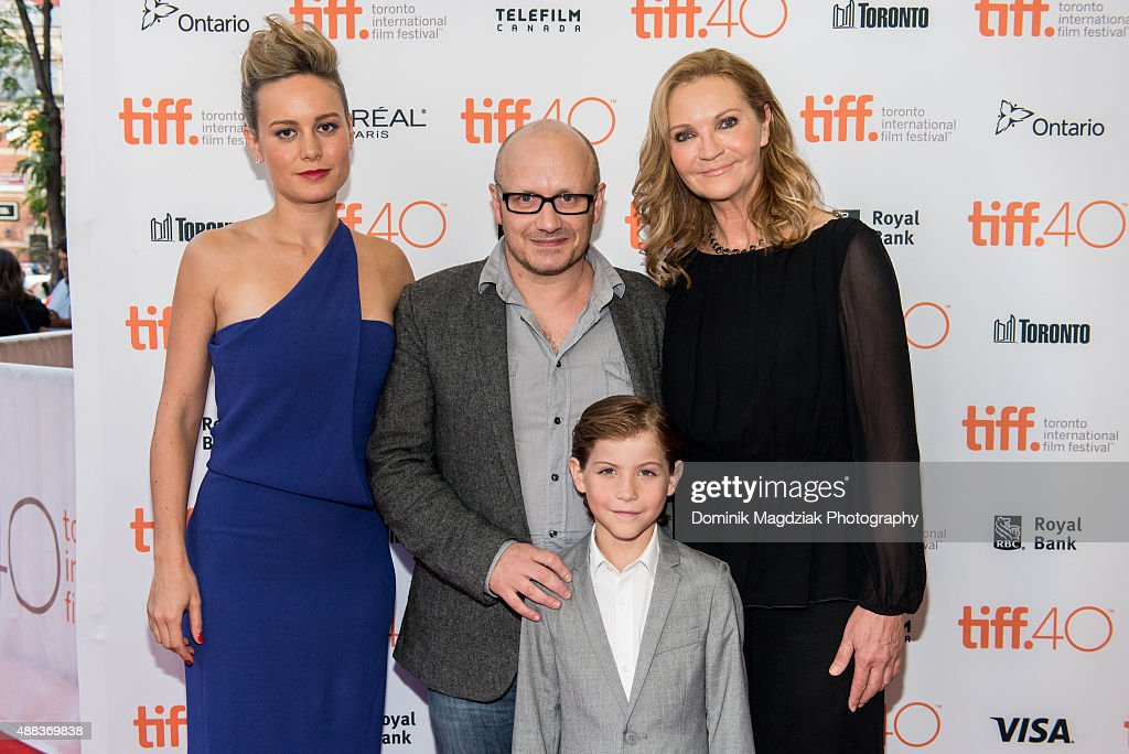 Actress Brie Larson, director Lenny Abrahamson, actor Jacob Tremblay and actress Joan Allen attend the 'Room' premiere during the 2015 Toronto International Film Festival at the Princess of Wales Theatre on September 15, 2015 in Toronto, Canada.