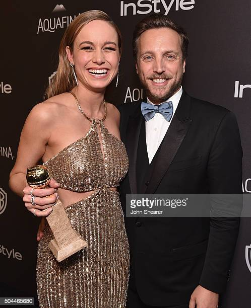 Actress Brie Larson InStyle Editorial Director Ariel Foxman attend The 2016 InStyle and Warner Bros 73rd annual Golden Globe Awards PostParty at The...