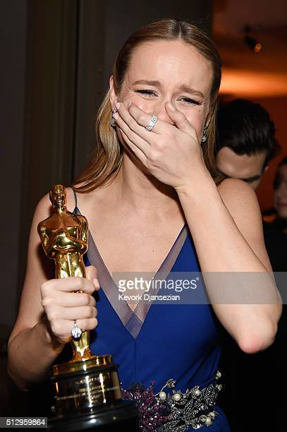 Actress Brie Larson winner of Best Actress for 'Room' backstage at the 88th Annual Academy Awards at Dolby Theatre on February 28 2016 in Hollywood...