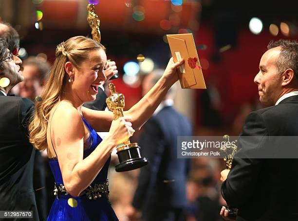 Actress Brie Larson winner of Best Actress for 'Room' onstage at the 88th Annual Academy Awards at Dolby Theatre on February 28 2016 in Hollywood...