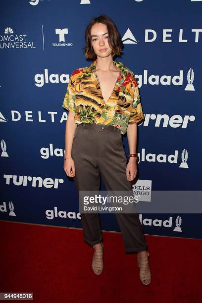 Actress Brigette LundyPaine attends GLAAD's 2018 Rising Stars luncheon at The Beverly Hilton Hotel on April 11 2018 in Beverly Hills California