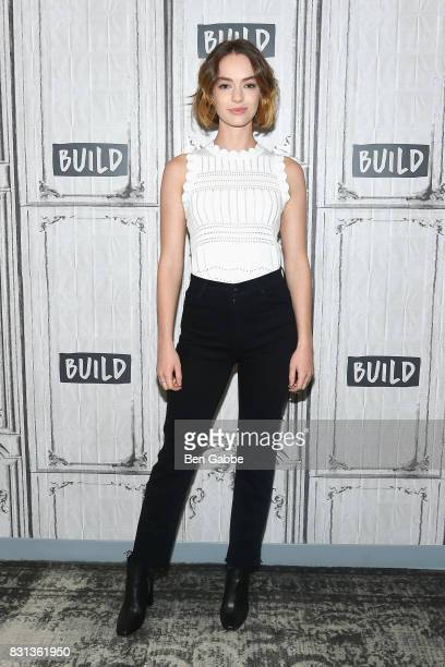 Actress Brigette LundyPaine attends the Build Series to discuss her new projects Atypical and The Glass Castle at Build Studio on August 14 2017 in...