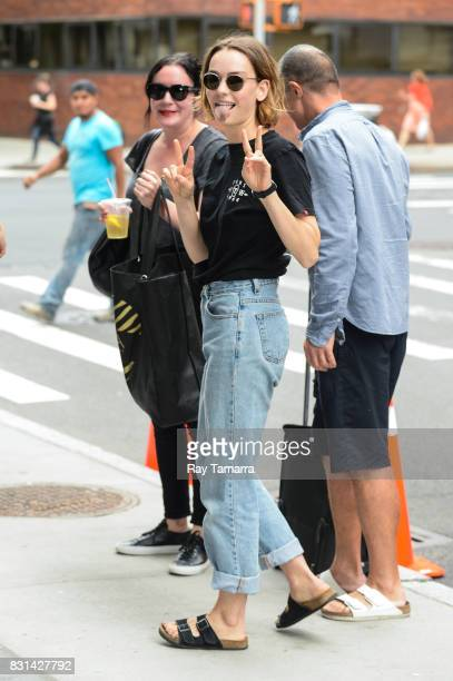 Actress Brigette LundyPaine enters the 'AOL Build' taping at the AOL Studios on August 14 2017 in New York City