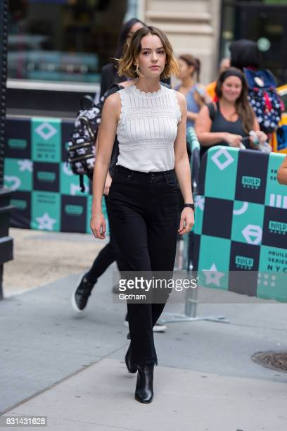 Actress Brigette LundyPaine is seen in the East Village on August 14 2017 in New York City