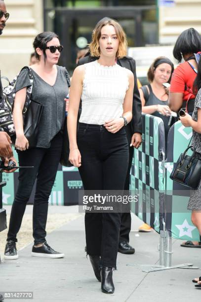 Actress Brigette LundyPaine leaves the 'AOL Build' taping at the AOL Studios on August 14 2017 in New York City