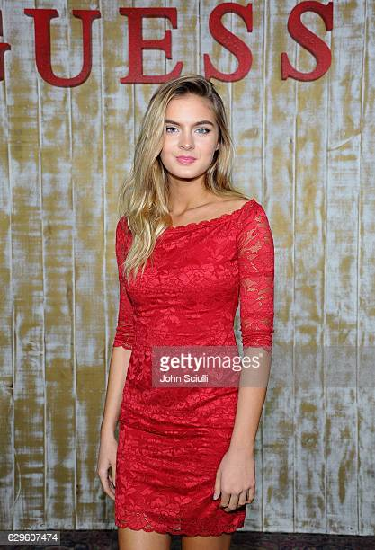 Actress Brighton Sharbino attends GUESS Glitz and Glam Holiday event at The Carondelet House on December 13 2016 in Los Angeles California