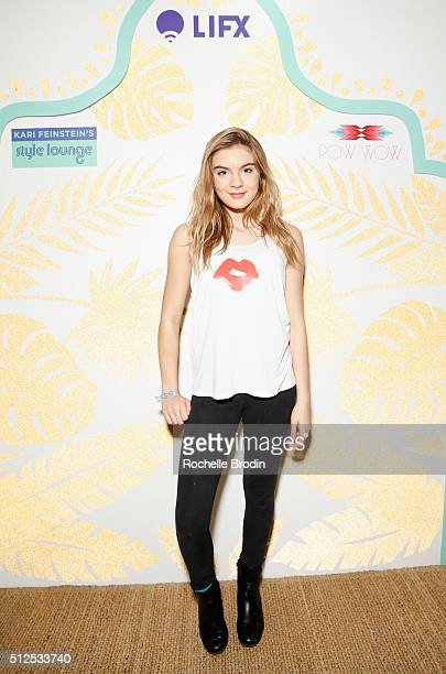 Actress Brighton Sharbino attends Kari Feinstein's Style Lounge presented by LIFX on February 26 2016 in Los Angeles California