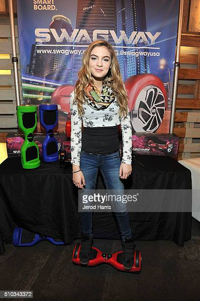 Actress Brighton Sharbino attends the GBK Pre Grammy Lounge at Tom's Urban at LA Live on February 14 2016 in Los Angeles California