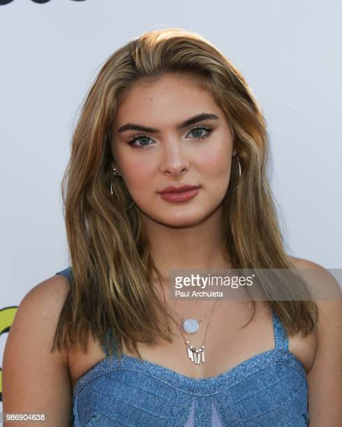 Actress Brighton Sharbino attends the GenZ Studio Brat's premiere of Chicken Girls at The Ahrya Fine Arts Theater on June 28 2018 in Beverly Hills...