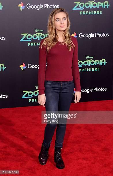 Actress Brighton Sharbino attends the Premiere of Walt Disney Animation Studios' 'Zootopia' at the El Capitan Theatre on February 17 2016 in...