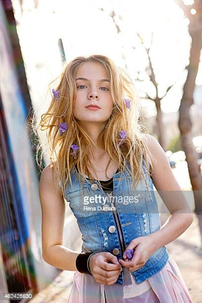 Actress Brighton Sharbino is photographed for LVLten Magazine on April 23 2014 in Los Angeles California