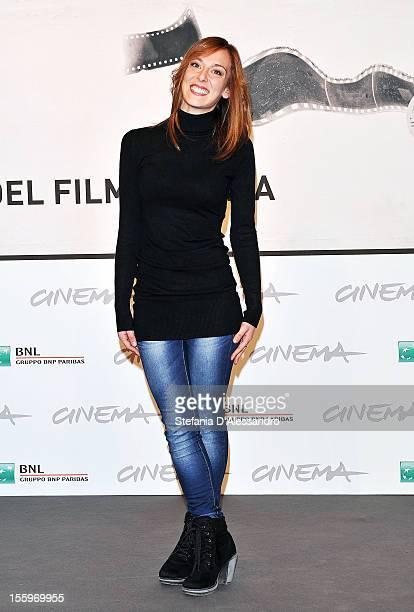 Actress Brigitte Apruzzesi attends the Ali Ha Gli Occhi Azzurri Photocall during the 7th Rome Film Festival at the Auditorium Parco Della Musica on...