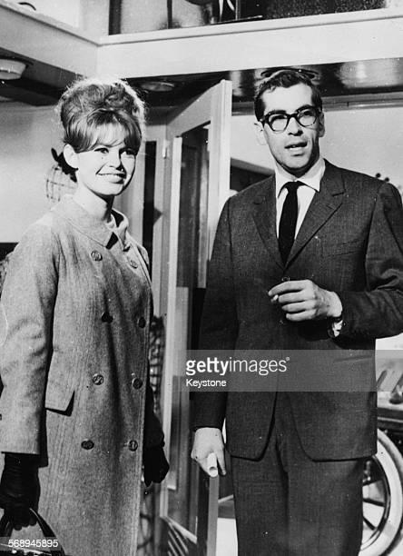 Actress Brigitte Bardot and director Roger Vadim former spouses at a studio together to make the film 'La Brid Au Gou' December 12th 1960