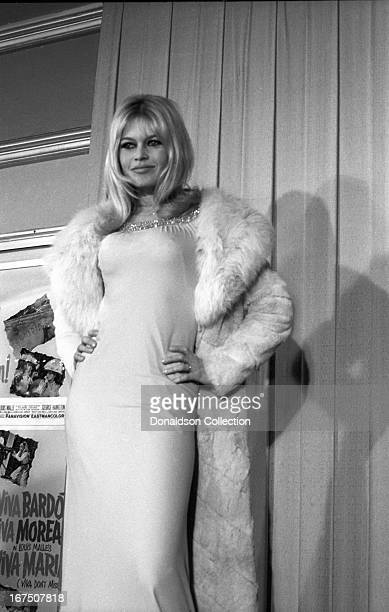 Actress Brigitte Bardot attends the premiere for the film 'Viva Maria' on December 27 1965 in Los Angeles California