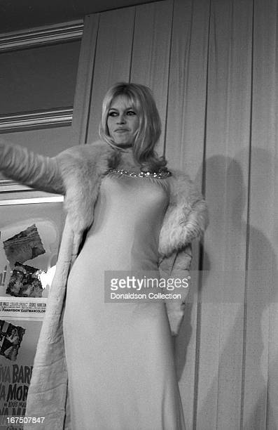 Actress Brigitte Bardot attends the premiere for the film Viva Maria on December 27 1965 in Los Angeles California
