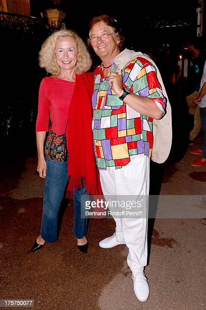 Actress Brigitte Fossey and architect of Verdure Theater of Ramatuelle Serge Mege attend Concert of Juliette Greco at 29th Ramatuelle Festival Day 8...