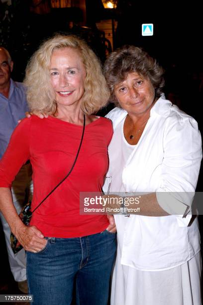Actress Brigitte Fossey and President of Ramatuelle Festival Jacqueline Franjou attend Concert of Juliette Greco at 29th Ramatuelle Festival Day 8 on...