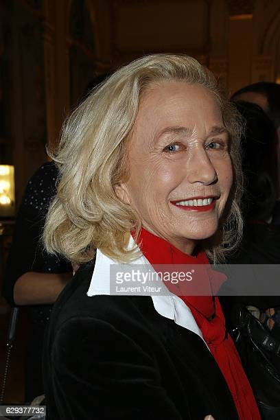 Actress Brigitte Fossey attends the Ceremony of Actor Hugues Quester Actress Catherine Arditi and Manager of Theater Pascale BoeglinRodier decorated...