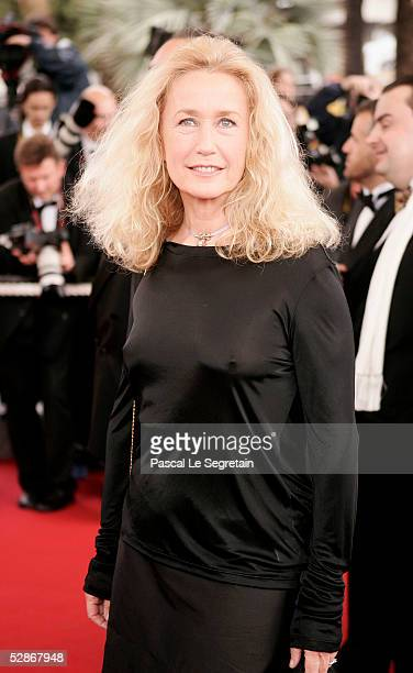 Actress Brigitte Fossey attends the screening of 'Broken Flowers' at the Grand Theatre during the 58th International Cannes Film Festival May 17 2005...