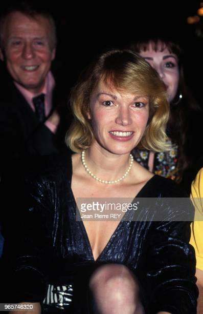 Actress Brigitte Lahaie At Theater Premiere Paris February 27 1991